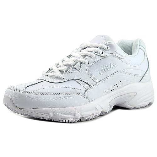 Zapatillas de trabajo con memoria Workshift para mujer, cuero blanco, sintšŠtico, 5 M: Amazon.es: Zapatos y complementos