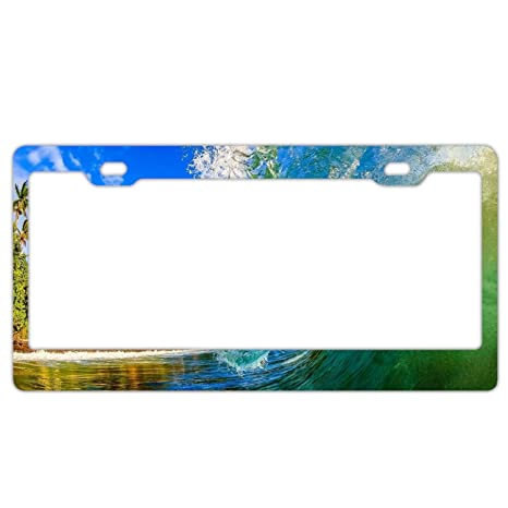 Made In Hawaii License Plate Frame Tag Holder