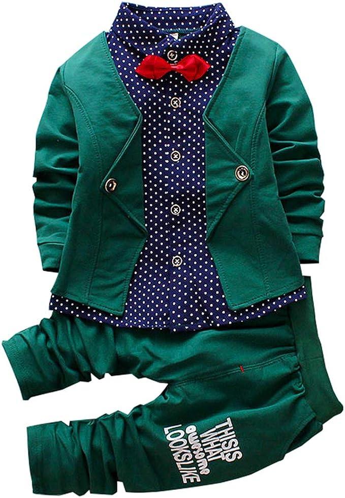 Amazon.com: Conjunto de 2 piezas de ropa de bebé para niños ...
