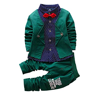 991d30560f81 Amazon.com  2pcs Baby Boy Dress Clothes Toddler Outfits Infant ...