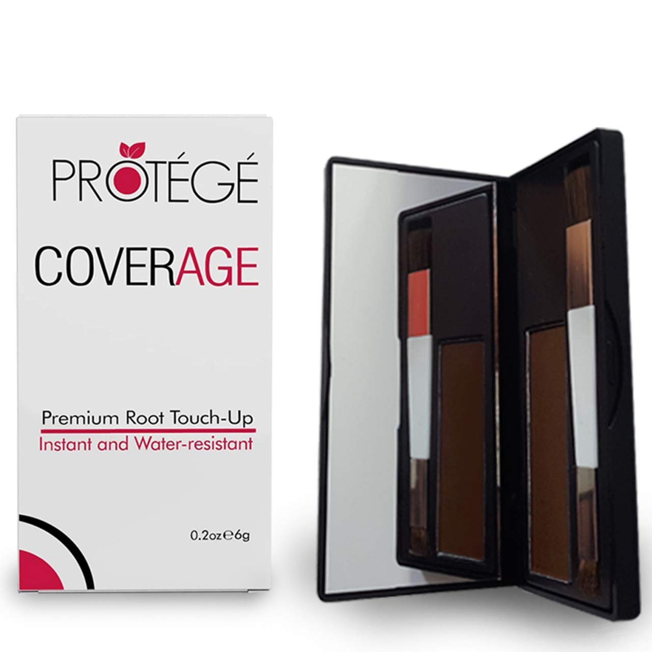 Premium Root Touch Up - CoverAge - Instant Temporary Root Concealer to Cover Up Roots and Grays Between Salon Trips - Water Resistant - Color Roots like Magic Without Spray - Brown by PROTÉGÉ