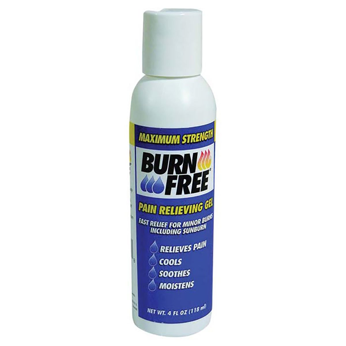 Burn Free Pain Relieving Gel, Maximum Strength- Fast relief for minor burns including sunburn