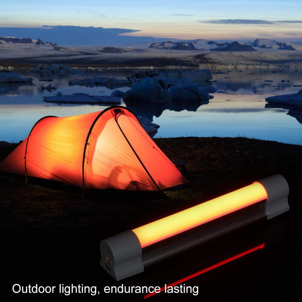 Zerodis Luz LED Recargable para Acampada y Senderismo LED, luz de Ahorro de energ/ía, luz port/átil, para Camping, Senderismo, Actividades al Aire Libre y situaciones de Emergencia
