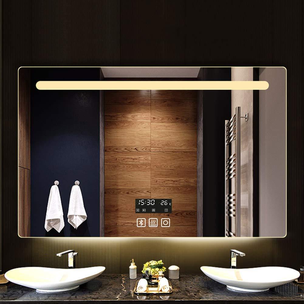 Temperatura BAIF Specchio da Bagno a Parete Smart Touch Illuminazione a LED Funzione Anti-Nebbia 60 * 80 cm Bluetooth Tempo