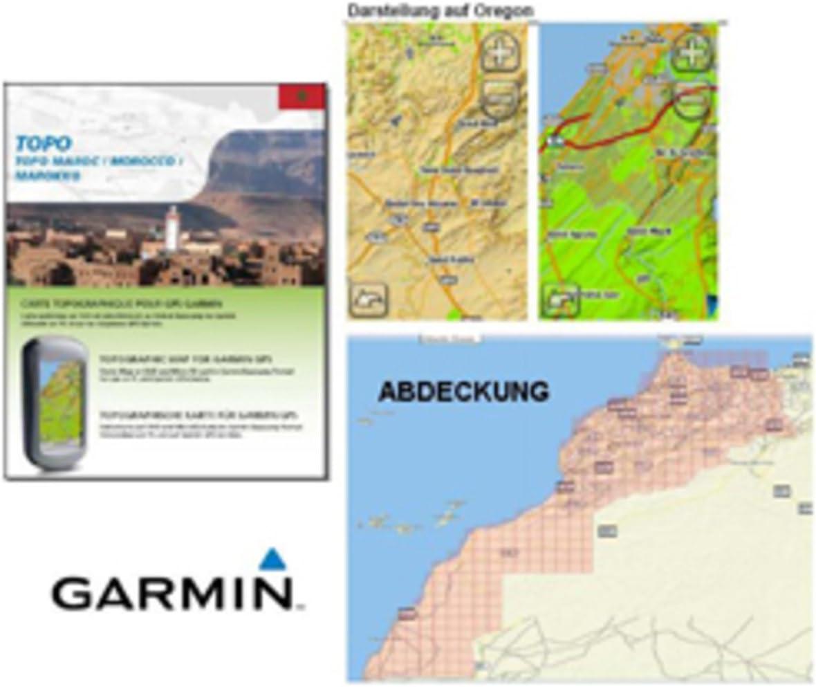 Garmin TOPO Marokko - Mapa para GPS (DVD, microSD, 512 MB, 2 GB): Amazon.es: Electrónica