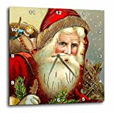 3dRose DPP_171463_3 Vintage Santa Claus with Sack Full of Toys Wall Clock, 15 by 15-Inch For Sale