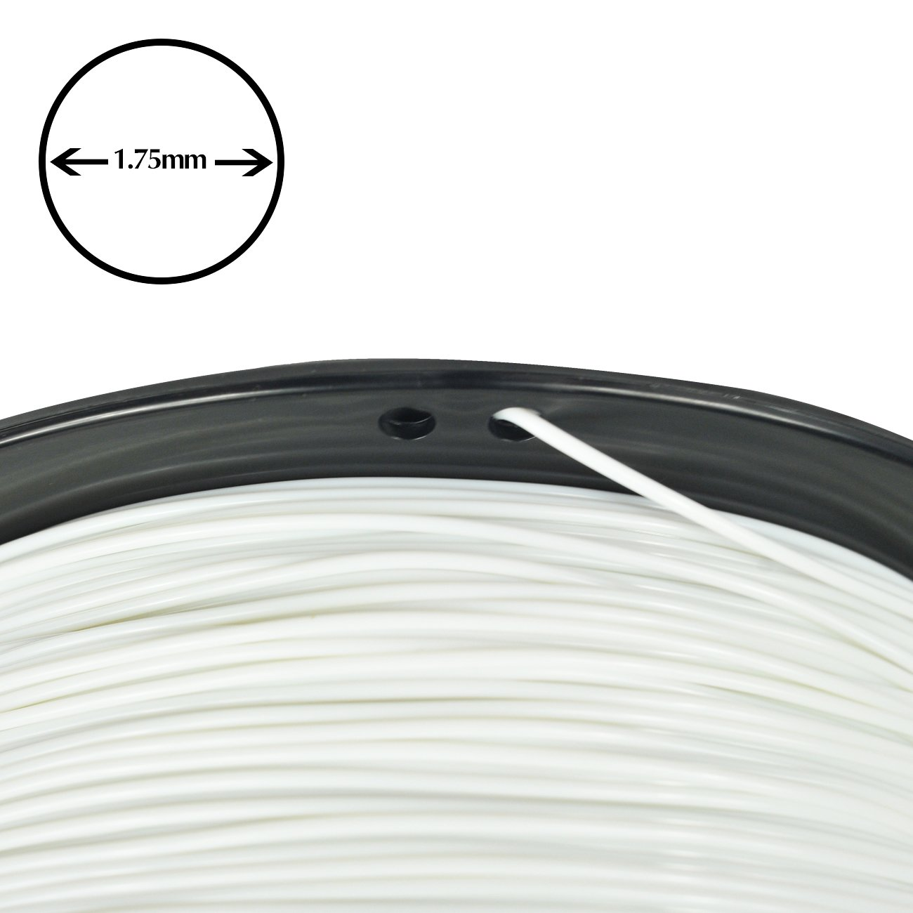 1kg Spool,White Dimensional Accuracy //-0.03 mm PRILINE PLA 1.75 3D Printer Filament