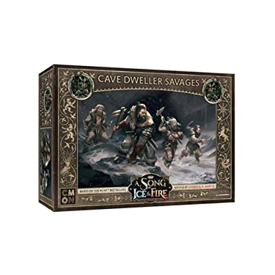 A Song of Fire & Ice Miniatures Game: Free Folk Cave Dweller Savages COLSIF408: Toys & Games