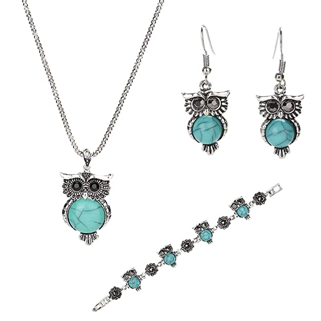 Turquoise Owl Jewelry Set ONLY...