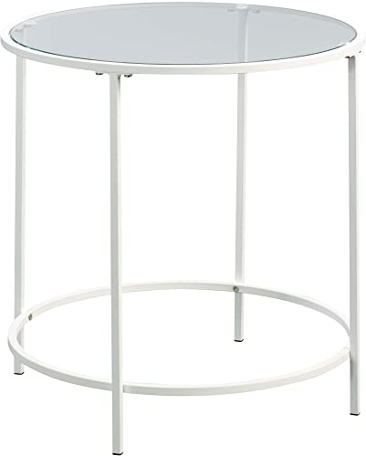 Sauder Anda Norr Round Side Table, L 22.01 x W 22.01 x H 22.01 , White