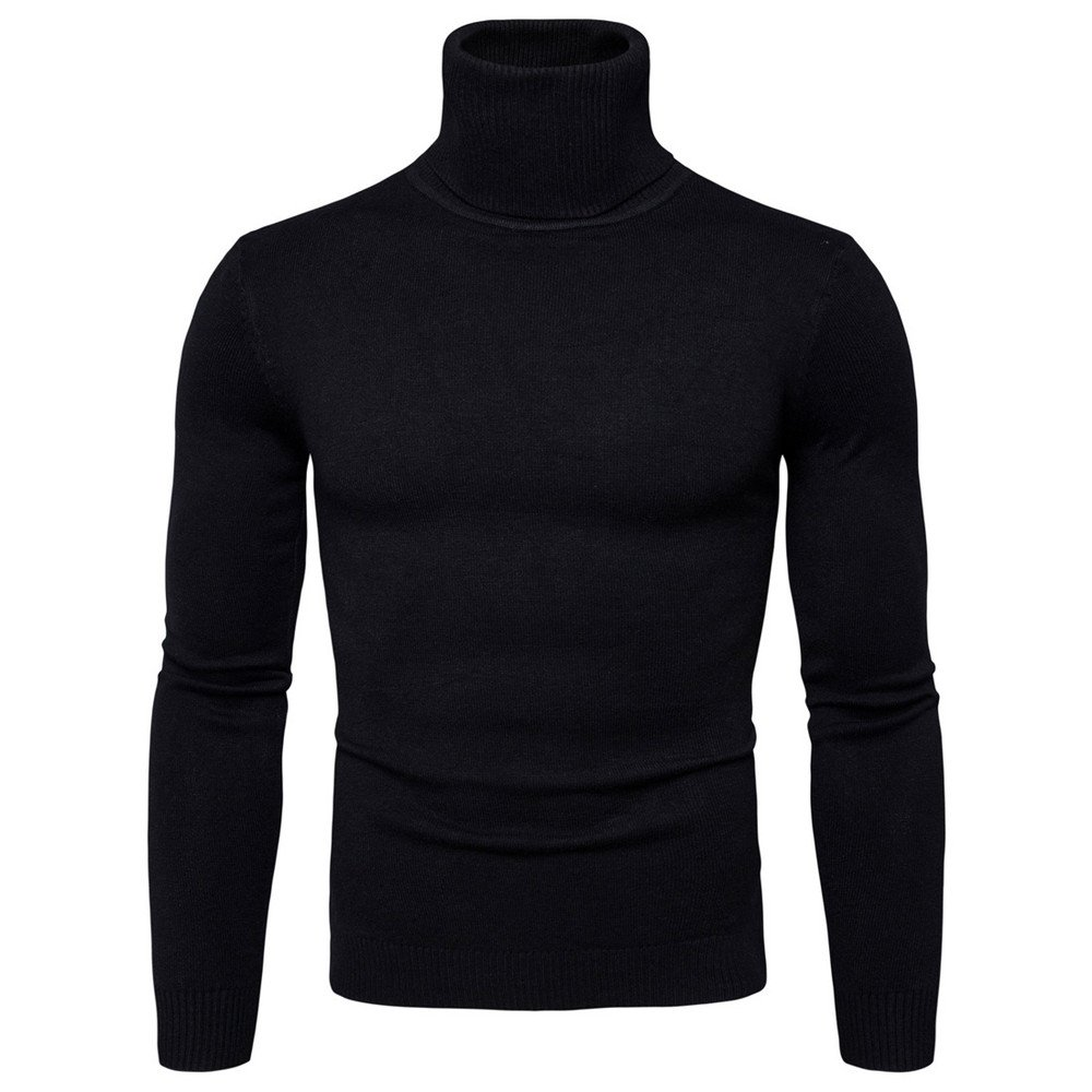 Lavnis Men's Turtleneck Pullover Sweater Casual Basic Knitted Slim Fit Sweatershirts M