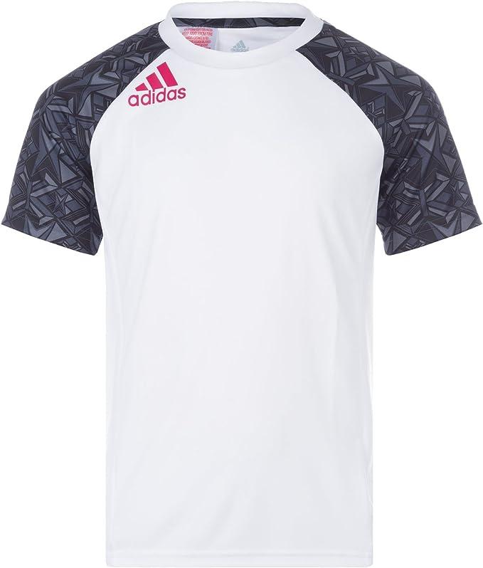 adidas T Shirt Climalite pour garçon en Blanc: