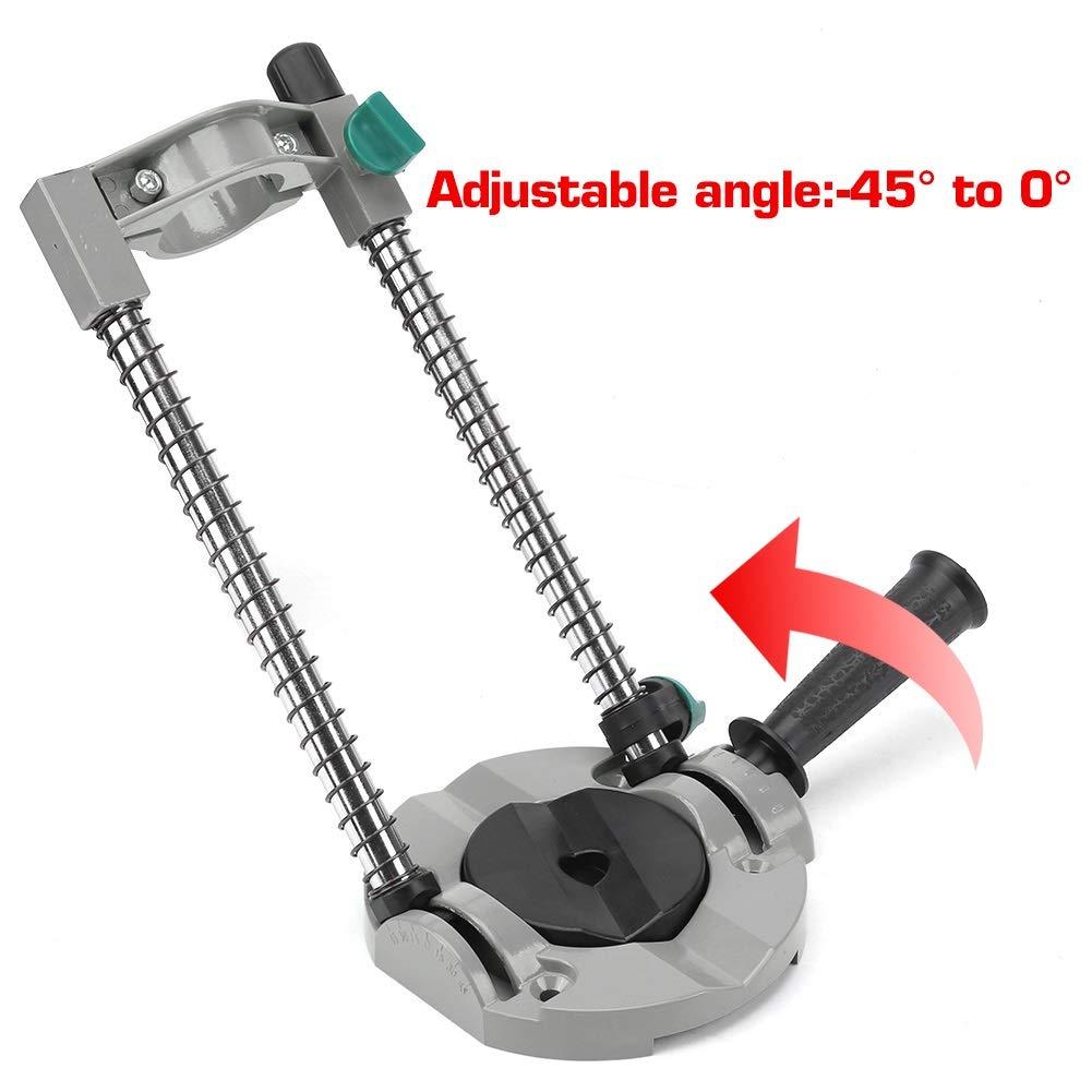 Gu/ía de broca /Ángulo ajustable Soporte de broca Soporte de gu/ía Soporte de posicionamiento for taladro el/éctrico