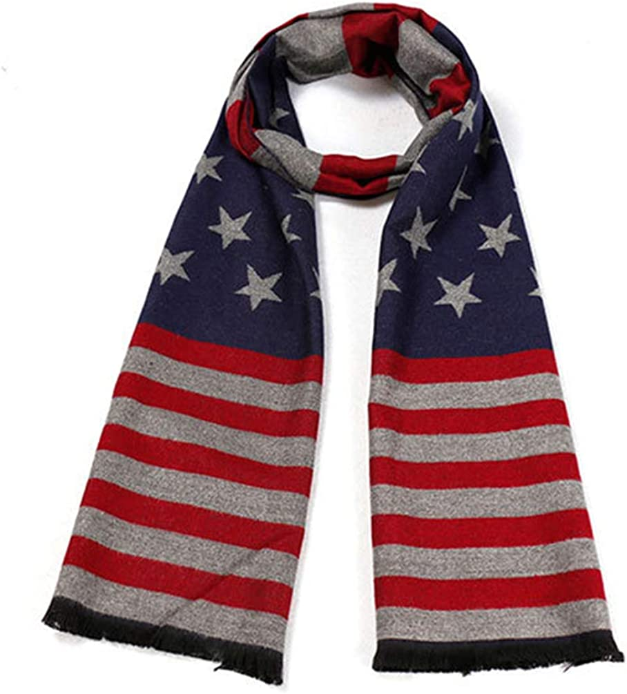 USA and Cape Verde Retro Flag Cashmere Scarf Shawl Wraps Super Soft Warm Tassel Scarves For Women Office Worker Travel
