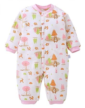 d0ef8e08e4788 ロンパース 新生児 カバーオール ベビー 肌着 長袖 前開き 秋冬 綿素材 赤ちゃん 服 出産祝い お出かけ