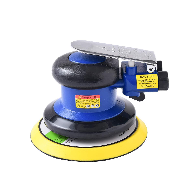 Professional Air Random Orbital Palm Sander, Dual Action Pneumatic Sander, Low Vibration(5in) LINGLIQIDONG