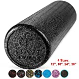 Cheap Day 1 Fitness High Density Muscle Foam Rollers Sports Massage Rollers for Stretching, Physical Therapy, Deep Tissue and Myofascial Release – for Exercise and Pain Relief – Black, 18″