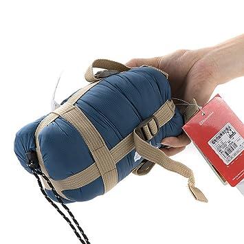 Comprimir Envelope saco de dormir ultraligero portátil 2-Season 59 - 68 F para Camping senderismo, Medium, Índigo: Amazon.es: Deportes y aire libre