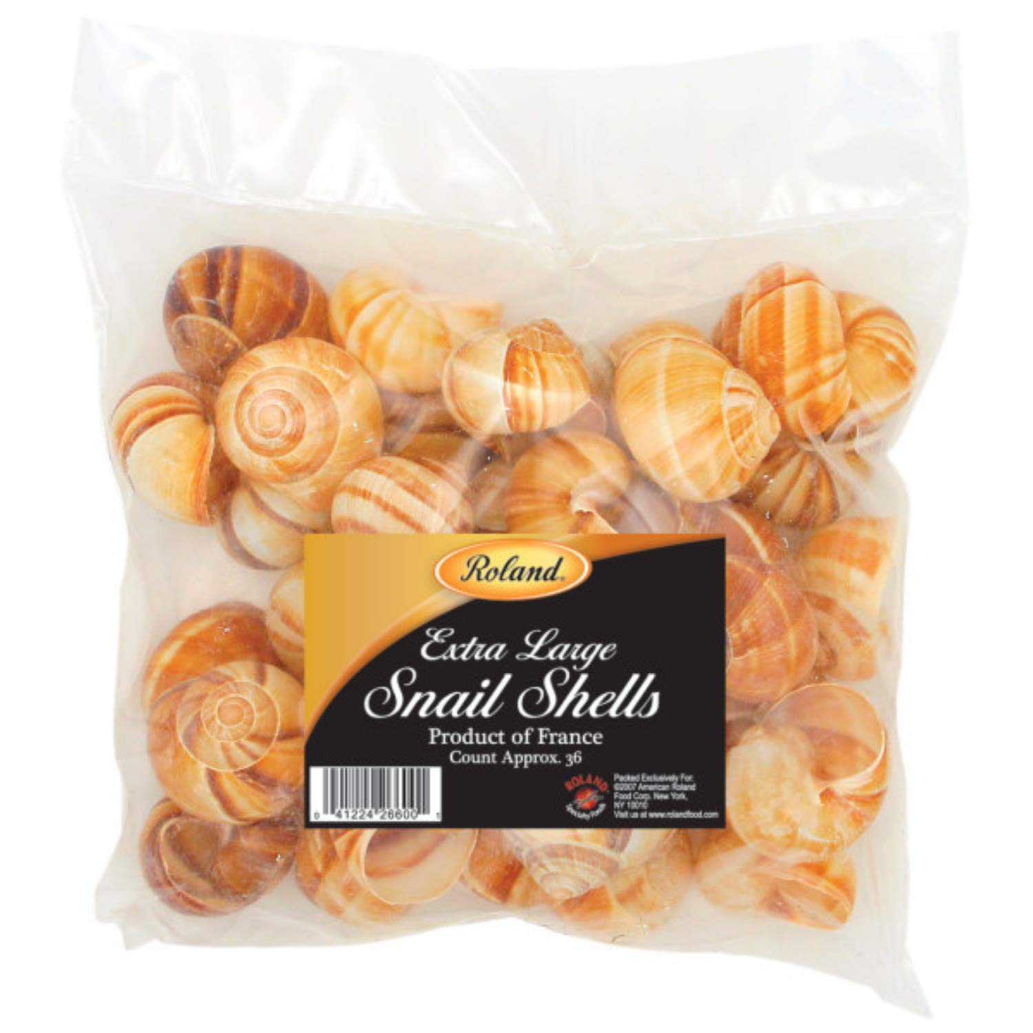 Roland Foods Extra Large Snail Shells, Specialty Imported Food, 36 Count Bag