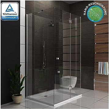 Ducha cabina de ducha U forma Mampara 3078193010 métrica 100 x 120 ...