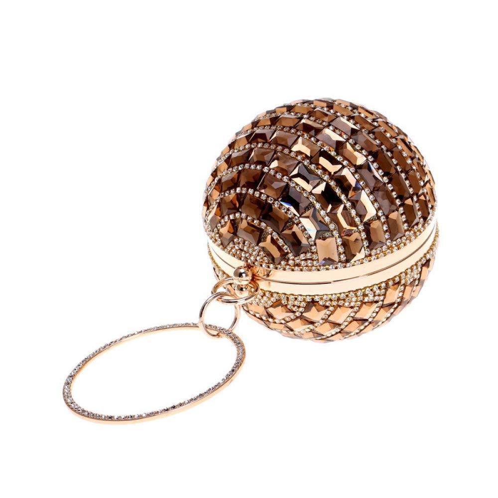 Damen Runde Ball Clutch Strass Glas Diamant Abendtasche Abendtasche Abendtasche Party Hochzeit Handtaschen für Frauen (Farbe   schwarz, Größe   Diameter12.5cm) B07Q1HBCMB Clutches Zuverlässiger Ruf 3d4e31