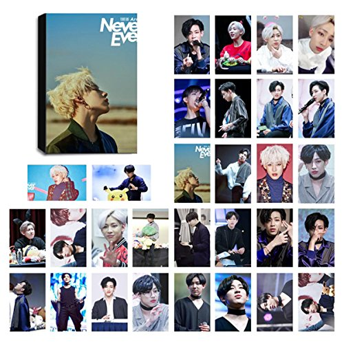 KPOP GOT7 Lomo Cards Got Seven Photocard Set of 30 for iGOT7 Fan with Greeting Card Postcards Box (BAMBAM 2)