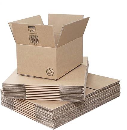 Cajas de Cartón de Doble Pared – 405 x 275 x 190 mm. 20 fuertes cajas empaquetadas