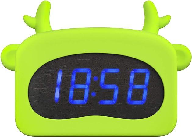 Cute Lighted Antlers Wake Up Digital Alarm Clock for B FilmHoo Kids Alarm Clock