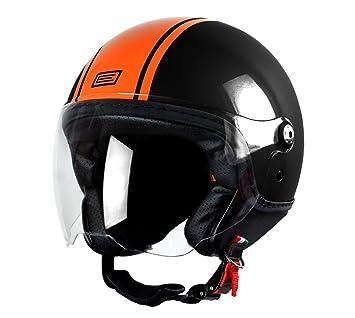 Origine Helmets Mio Dandy Matt, casco para moto, Naranja, XXL.