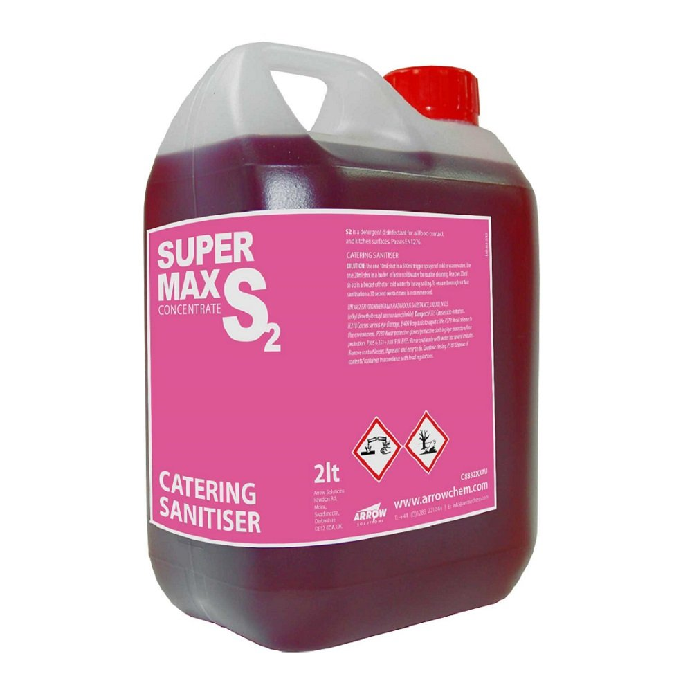 S2 Supermax Catering Sanitiser 2 Litre Arrow Chemicals