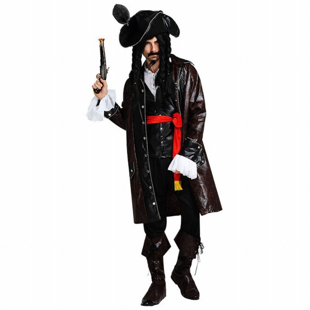 RIOS Disfraz de Pirata para Halloween, Disfraz de Pirata caribeña ...