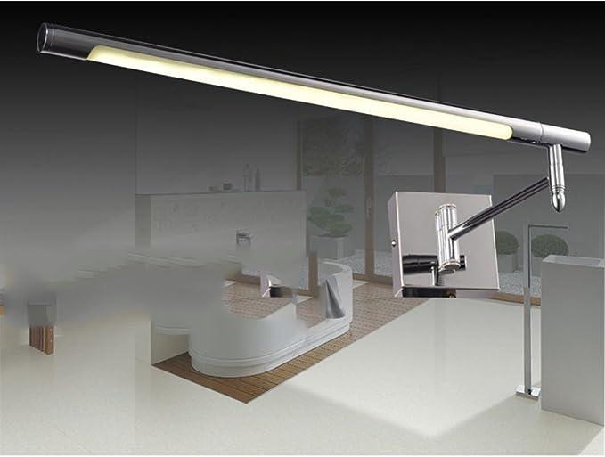 Led specchio faro wc wc trucco lampada impermeabile anti fog