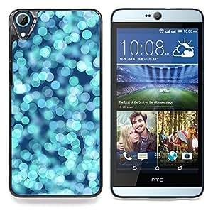For HTC Desire 826 Case , Agua Glitter Blue Ocean Surf Verano - Diseño Patrón Teléfono Caso Cubierta Case Bumper Duro Protección Case Cover Funda