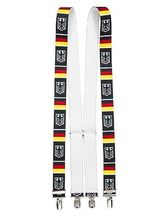 shenky - Bretelles en X - 4 pinces résistantes - fabriquées en Allemagne -  aigle de ed3709df530