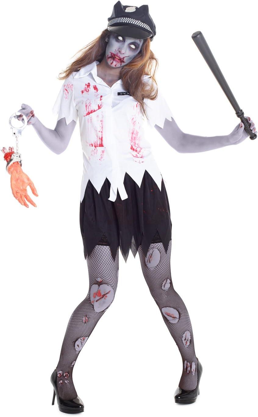 Morph Costumes Uniforme Sangriento de Mujer policía Zombi Disfraz ...