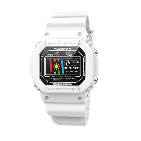 JKONG Outdoor Sports Smartwatch Fitness Tracker Blanco: Amazon.es ...