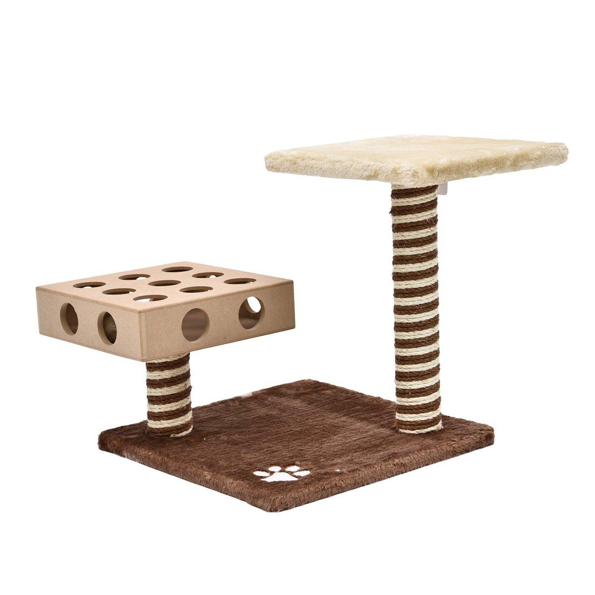 JILAN HOME- Haustier-Spielwaren 4pcs / Pieces Katzen-Fänger-Schnabel-Haustier-Baum-Kätzchen-Kratzer-Aufstieg spielt kleine Tier-Aufsatz-Möbel