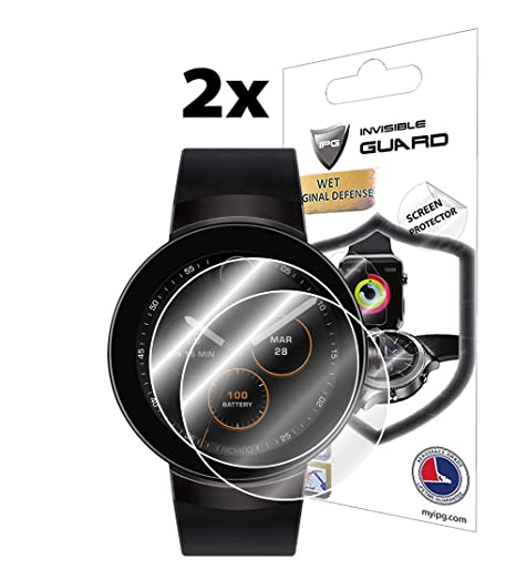IPG for MOVADO Connect Smartwatch Screen Protector (2 Units) Invisible Ultra HD Clear Film Anti Scratch Skin Guard - Smooth/Self-Healing/Bubble -Free ...