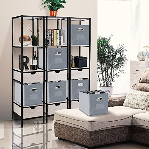 a9039520d23a Foldable Storage Cube Bins, Packism Collapsible Storage Drawer Cube ...
