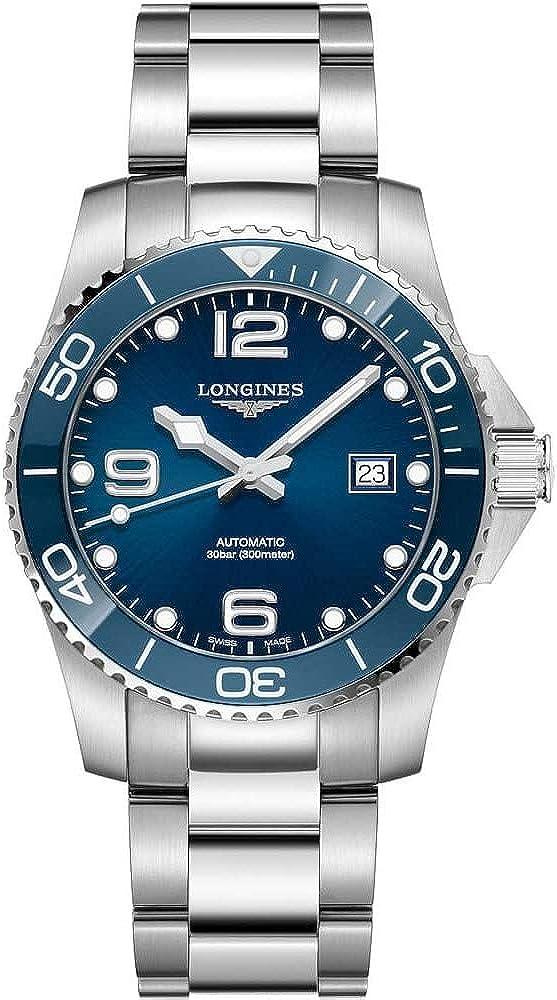 Longines HYDROCONQUEST L37814966 - Reloj de buceo automático con esfera azul, 41 mm