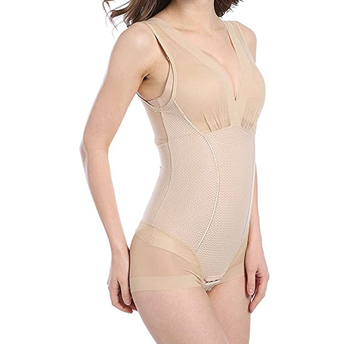 974a97b12 Zarbrina Women s Seamless Bodysuit Adjustable High Compression Waist  Trainer Full Body Shaper at Amazon Women s Clothing store
