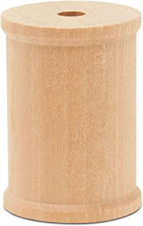 product image for Wooden Spools 2 x 1-1/2-inch, Pack of 50 Large Wood spools, Unfinished Birch, Splinter-Free, for Crafts by Woodpeckers
