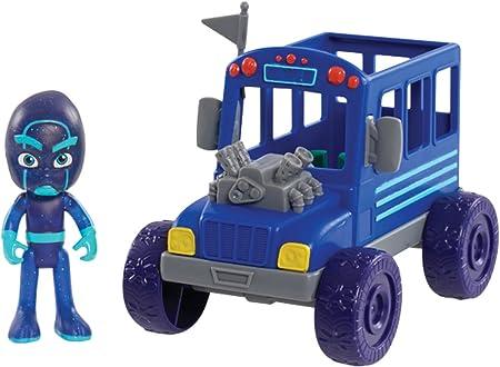 PJ Masks Vehicle & Figure - Night Ninja Bus, Blue