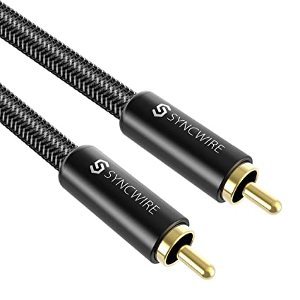 Syncwire Single Subwoofer Cable, [6ft/1.8M, Gold-Plated] S