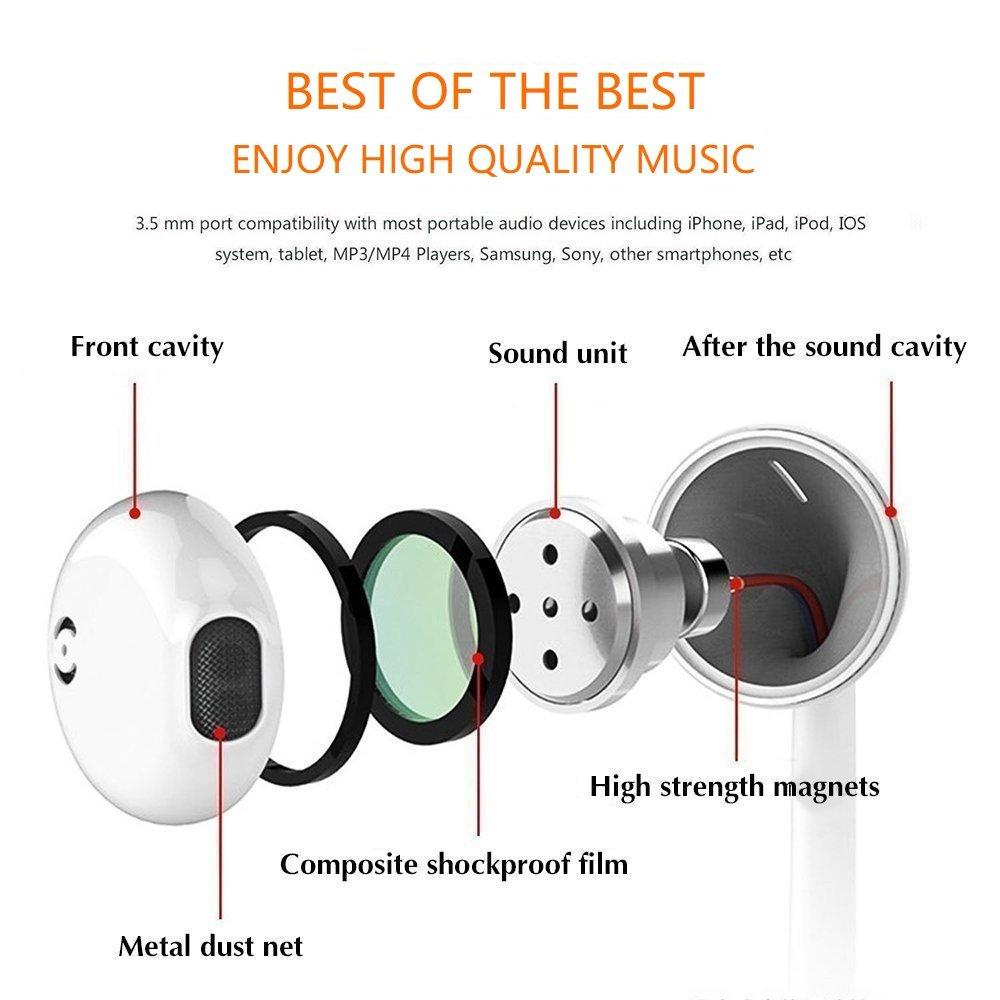 Ipod Earphones Wiring Diagram Explained Diagrams Amazon Com Nimachan Earbuds Headphones 2pack With Headphone Plug