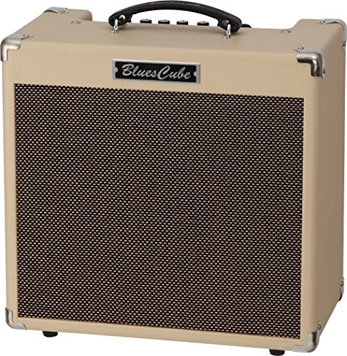 "Roland Blues Cube Hot 30W 1x12"" Guitar Combo Amplifier with Tube Tone, Vintage Blond"