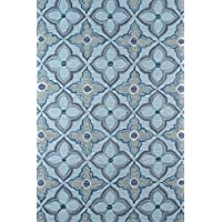 Momeni Rugs SUMITSUM14BLU2030 Summit Collection, Hand Knotted Transitional Area Rug, 2 x 3, Blue