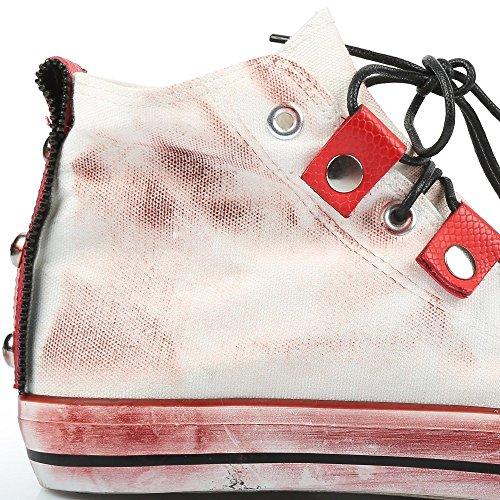 Ideal Shoes Basketballschuhe Männer Washed Daniel Rot