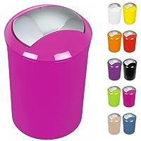 Spirella Design Kosmetikeimer Sydney Bad Treteimer Schwingdeckeleimer Abfallbehälter mit Schwingdeckel 5 Liter