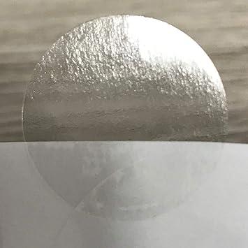 Transparente Claro Redondo Pegatinas Adhesivas Círculo Papel Sello Etiquetas